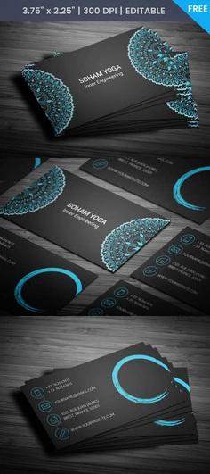 Free Mandala Business Card Template