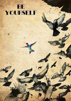 Joie De Vivre #de #birds #illustration #poster #vivre #joie