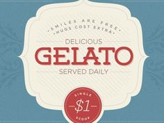 Dribbble - Gelato - Sneak Peek by Jonathan Gates #badge #hugs #gelato #and #logo #smiles