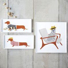 West Elm Spring 2014 #illustration #design #dogs #food