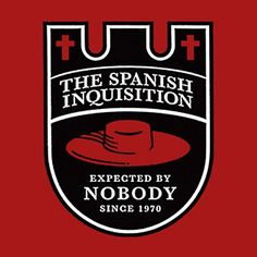 The Spanish Inquisition | Shirtoid #monty #inquisition #spanish #logo #python