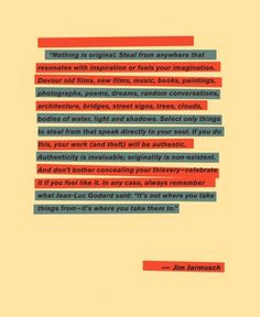 Angry Ape Social Club - Jim Jarmusch -words of wisdom. #inspiration #graphics