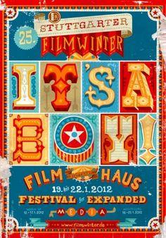 design work life » Apfel Zet: Stuttgarter Filmwinter Posters #typography #poster #circus