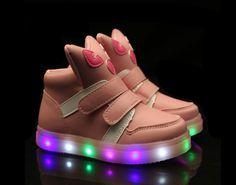 Children light-emitting cute shoes light pink
