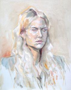 Portraits 2012 2013 on the RISD Portfolios #portrait #painting #canvas #oil