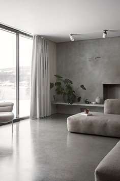 The Gjøvik House – Minimalissimo #minimalism #interiordesign #gray #concrete #sofa