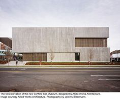 Clyfford Still Museum Allied Works Architecture #architecture