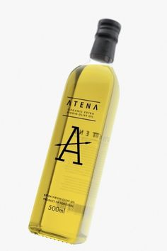 Vladimir Pospelov 3D visualizer #bottle #packaging #atena #olive #glass #oil