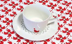 All sizes | Untitled | Flickr - Photo Sharing! #pattern #design #graphic #birds #illustration #tea #cup