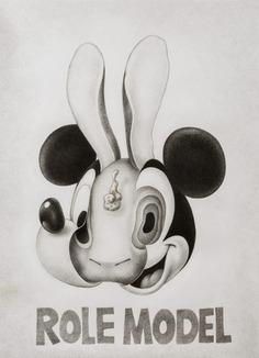 Mickey Mouse & Rabbit