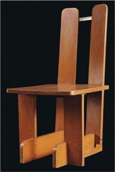 Daddy Types #zwart #montessori #chair #1937 #wood #piet #30s