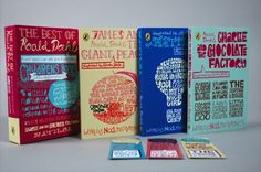 Mille Haugnaess - Roald Dahl book covers