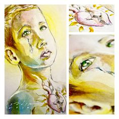 ILUSTRACIONES 2012 on Behance #heart #draw #sadik #kid #color #mexico #guanajuato #face #sad #drawing #watercolor