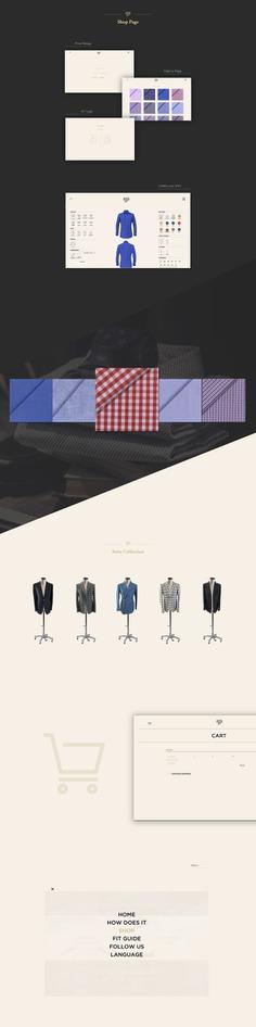 Sartopolis - Website Concept by Orimat #website #web #design #ui #ux #interface #designbyorimat #tailoring #tailored #napoli #italy
