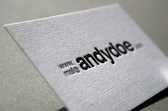 Andy Doe letterpress business card #card #identity #business