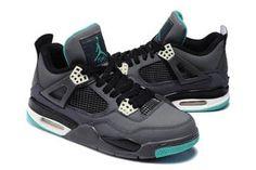 Jordan 4 Shoes Glow Dark GreyGreen GlowCement GreyBlack #fashion