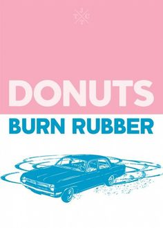 International Doughnut Day - Brendan Hibbert of Brendan Hibbert Design. #screenprinting #johnnytwotoneclub #pink #doughnut #jttc #burnrubber #donut #blue #pastel