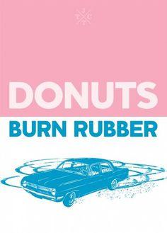 International Doughnut Day - Brendan Hibbert of Brendan Hibbert Design. #screenprinting #johnnytwotoneclub #pink #doughnut #jttc #burnrubber #donut #blue #pastel