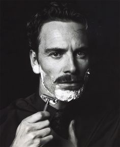 Michael Fassbander - XXVIII #photography #film #black and white #shave #michael fassbender
