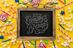 Birthday concept with slate Free Psd. See more inspiration related to Mockup, Birthday, Happy birthday, Party, Anniversary, Celebration, Happy, Candy, Present, Chalkboard, Mock up, Gifts, Decorative, Celebrate, Birthday party, Candy cane, Sweets, Festive, Candles, Up, Colourful, Birth, Happy anniversary, Concept, Slate, Cane, Annual, Composition and Mock on Freepik.