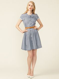 Twenty8Twelve Elin Pintucked Cotton Shirt Dress #gilt #fall #autumn #fashion #shirtdress
