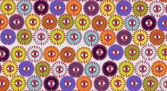 flower pattern on the Behance Network #eye #colors #pattern #flowers