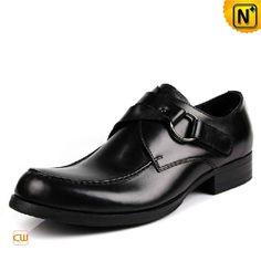 Designer Black Leather Dress Shoes for Men CW763085
