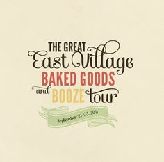 Baked Goods and Booze on the Behance Network #typography