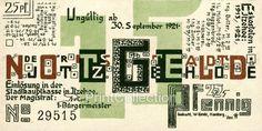 25 PF Notgeld, Itzehoe, Back | PrintCollection #graphic design #design #mark #money #notgeld
