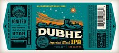 dubhe_label.jpg (JPEG Image, 1230x556 pixels) #white #orange #label #black #seal #gold #type #green