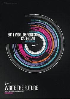 Write the Future - Calendar on the Behance Network #nike #calendar