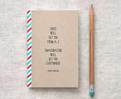 Einstein Mini Journal Sketchbook Eco Friendly by HappyDappyBits #inspiration #notebook #einstein