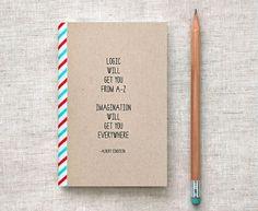 Einstein Mini Journal Sketchbook Eco Friendly by HappyDappyBits #inspiration #notebook #einstein