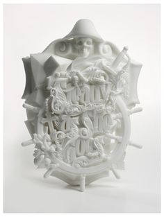 inspirationos #sculpture #white #print #illustration #type #3d