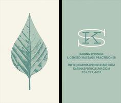 Invisible Creature Speaks #illustration #business card #leaf #calm