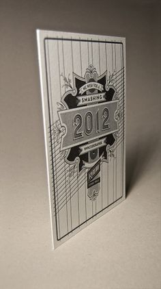 We wish you a smashing 2012! on the Behance Network #paper #cotton #letterpress