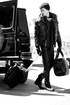 Black leather travel jacket #black #leather #jacket