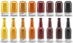Ölburkar i Pantone-färger - | Tjock / Strupen #beer #packaging #design #graphic #pantone