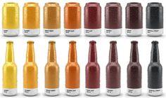 Ölburkar i Pantone-färger - | Tjock / Strupen