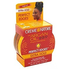 Controls and holds down edges, makes hair stronger, moisturizes and gives exotic shine to the hair. It smooths and manages frizz and flyaways.