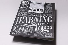 Modus Chalk Illustrative Type #design #book #chalk #cover #illustration #type #editorial #typography