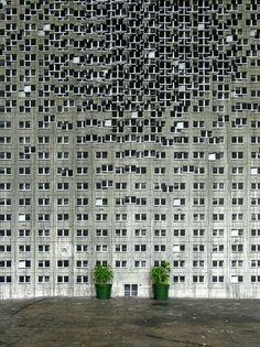 EVOL, Huge 'Buildings' Mural, Paris - unurth | street art #paris #mural #murale #art #street #huge #buildings #evol