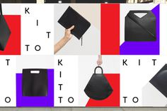 Kitto by Katie Minchak branding design mindsparkle mag fashion purple red bag stationery logo logotype branding corporate design identity mi