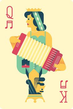 Texas Folk Life #card #illustration #playing