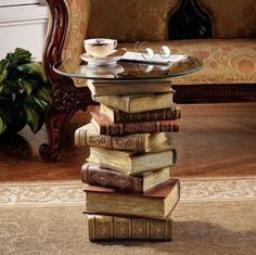Power of Books Sculptural Glass-Topped Small #tech #flow #gadget #gift #ideas #cool