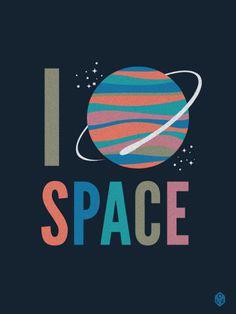 I Heart Space - CDRyan #cdryan #saturn #space