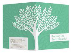 Eco-Friendly Presentation Folder Design Template for Ai #tree #illustrator #design #presentation #environment #ecofriendly #friendly #eco #template #ai #adobe #folder #green