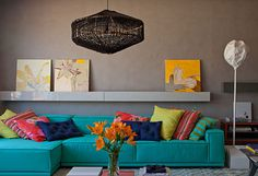 More Colorful and Inviting – Living Room Trend
