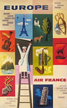 http://www.vintagepostersnyc.com/cgi local/db_images/posters/uploads/1260 image.jpg?296 #air #france #travel #poster #europe