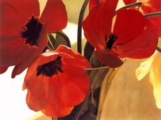 Ron Doyle | artist | paintings in watercolor and pastel #painting #tulips #watercolor #still #life #pastel